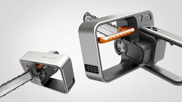 Концепт-дизайн цепной электропилы nok.gear