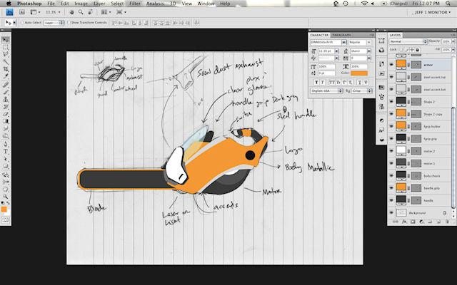 i.Saw - USB цепная пила - футуристический мотоцикл.