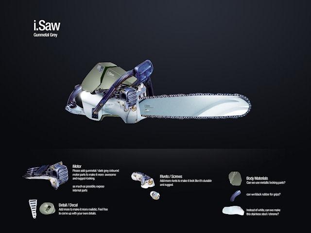 i.Saw - USB бензопила Stihl.