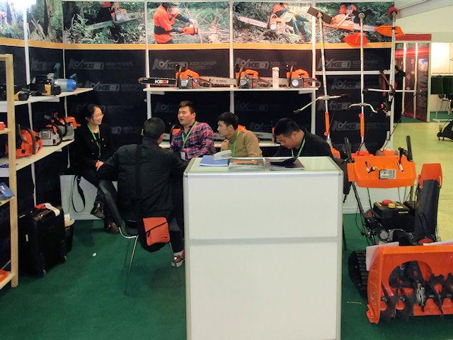 Китайские бензопилы на выставке Gardentool-2013