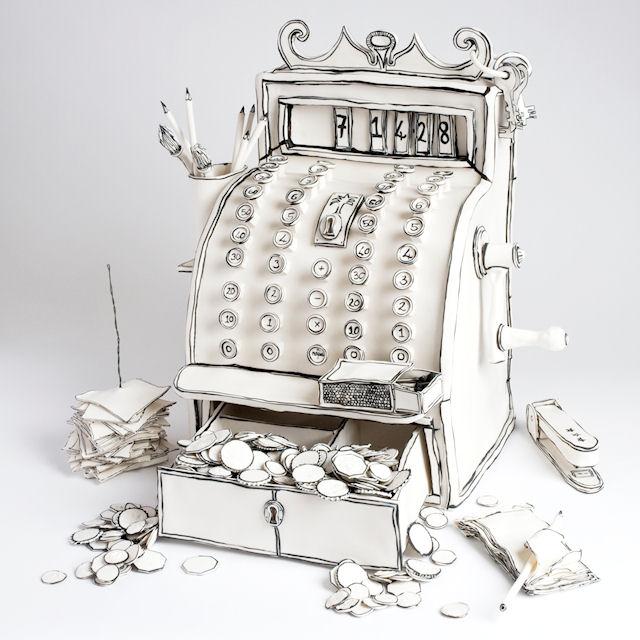 Катарина Морлинг. Керамический кассовый аппарат.