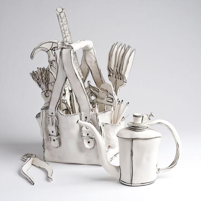 Катарина Морлинг. Керамическая сумка с инструментами