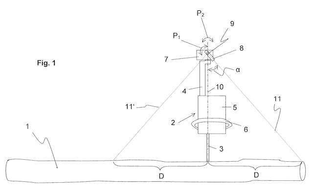 Патент на лазерный измеритель для бензопил Ralf Basler и Siegfried Isele