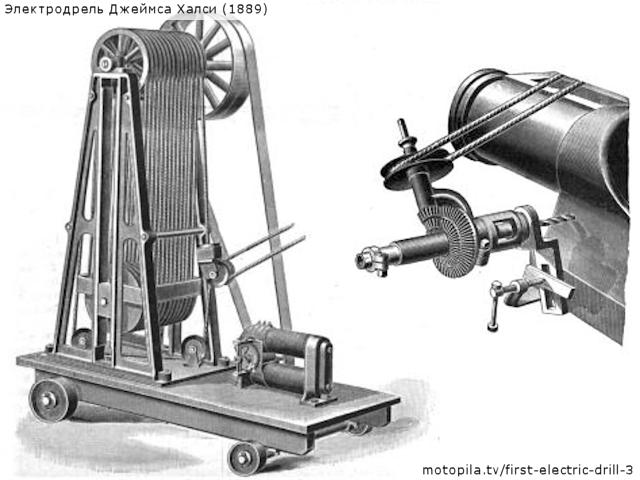 Электродрель Джеймса Халси (1889)